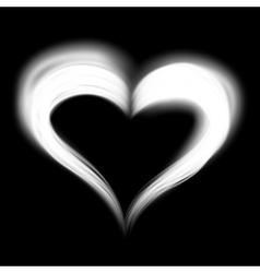Creative shiny heart shape vector image