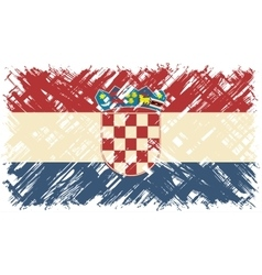 Croatian grunge flag vector image