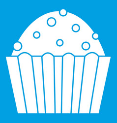 Cup cake icon white vector