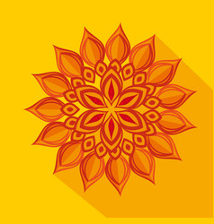 diwali flower decoration over yellow background vector image