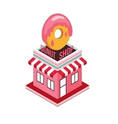 Donut shop Modern isometric flat design style Food vector image