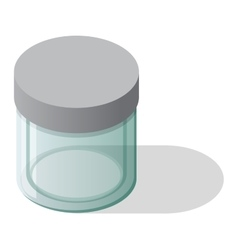 Empty glass bank jar vector image