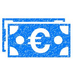 Euro banknotes grunge icon vector