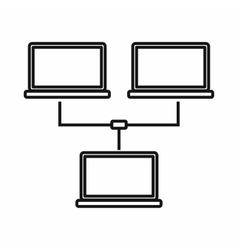 Exchange of data between computers icon vector image