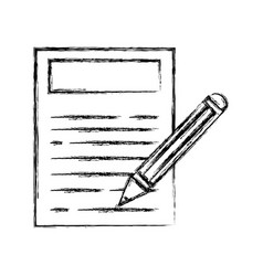 Figure paper document with pencil tool design vector