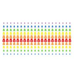 financial capital shape halftone spectrum grid vector image