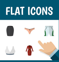 flat icon garment set of trunks cloth lingerie vector image