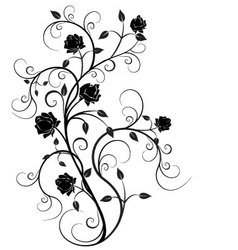 Flourishes in black 6 vector