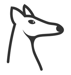 Fox head icon vector