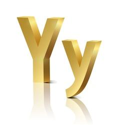 Golden letter Y vector