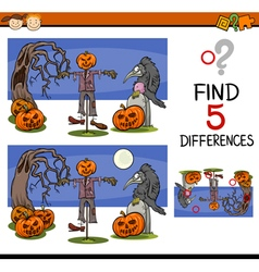 Halloween differences task vector