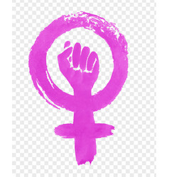 Hand drawn of feminism protest symbol vector