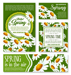 hello spring springtime holiday banner template vector image
