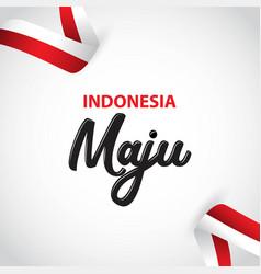 Indonesia maju template design vector