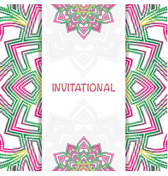 invitational abstract mandala vector image