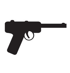 isolated gun icon silhouette vector image
