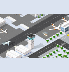 Isometric 3d airport vector