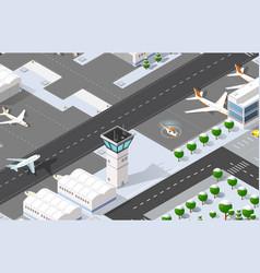 Isometric 3d airport vector