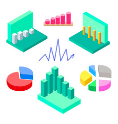 isometric infographics elements vector image