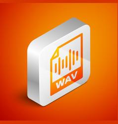 Isometric wav file document icon download wav vector