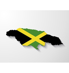 jamaica country map with shadow effect vector image
