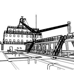 Large Tanker Ship vector image
