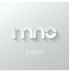 Letter M N O logo alphabet icon paper set vector