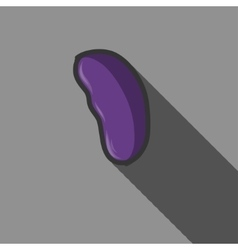 Liver icon with long shadow vector