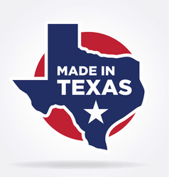 Made in texas logo 03 vector