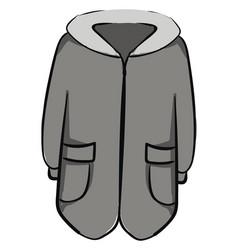 man winter coat on white background vector image