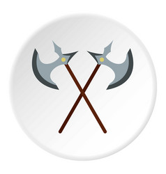 medieval battle axe icon circle vector image