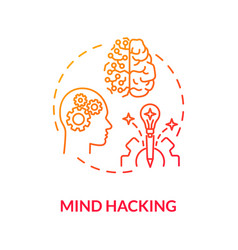 Mind hacking concept icon vector