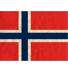 Norway paper flag vector image