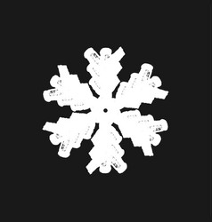 Paint brush snowflake vector
