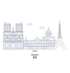 Paris city skyline vector