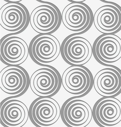 Perforated merging spirals vector