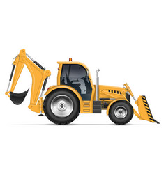 realistic backhoe loader vector image