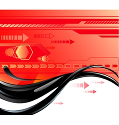 Red background with oil vector