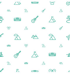 rock icons pattern seamless white background vector image