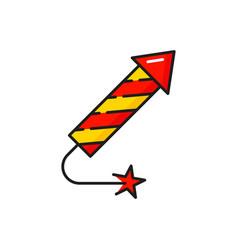 Rocket firecracker chinese festive pyrothecnics vector