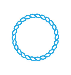 Round marine rope frame for photo or text vintage vector