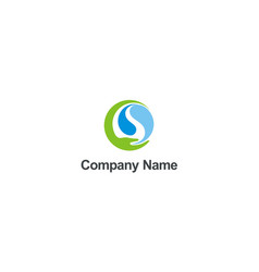 save ecology water nature hand company logo vector image
