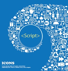 Script sign icon javascript code symbol nice set vector