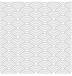 Seamless cloudy wave dragon fish scales pattern vector