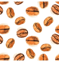 Seamless coffee beans background vector image