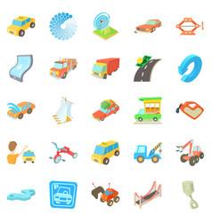 Service icons set cartoon style vector