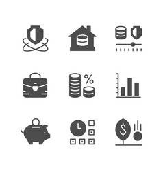 set icons investment vector image