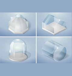 Set of glass shapes vector