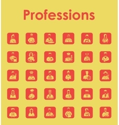 Set of professions simple icons vector image