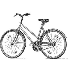 Sketch an old city bike vector